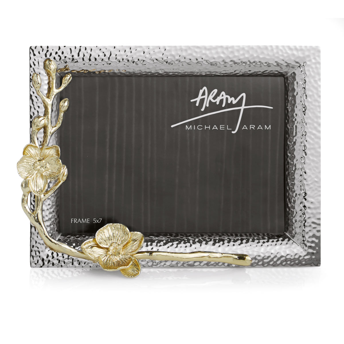 "Michael Aram Golden Orchid 5X7"" Picture Frame"