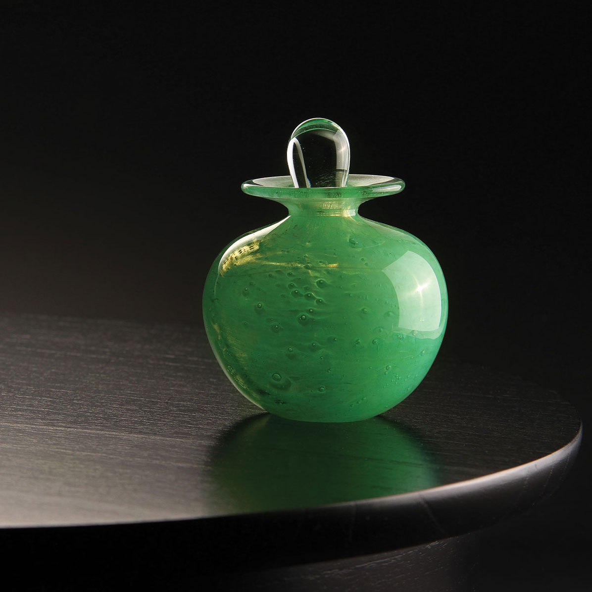 Cashs Ireland, Art Glass Forty Shades of Green, Perfume Bottle