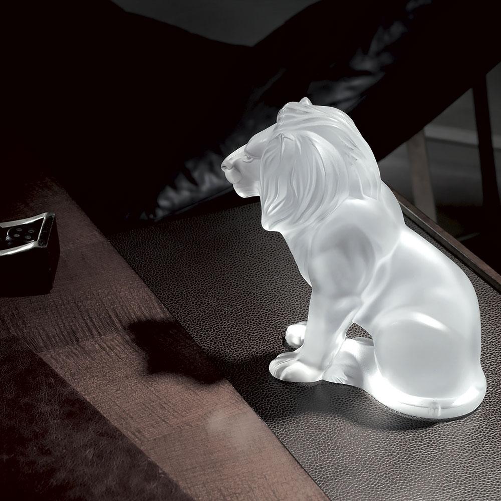 Lalique Crystal, Figure Bamara Lion