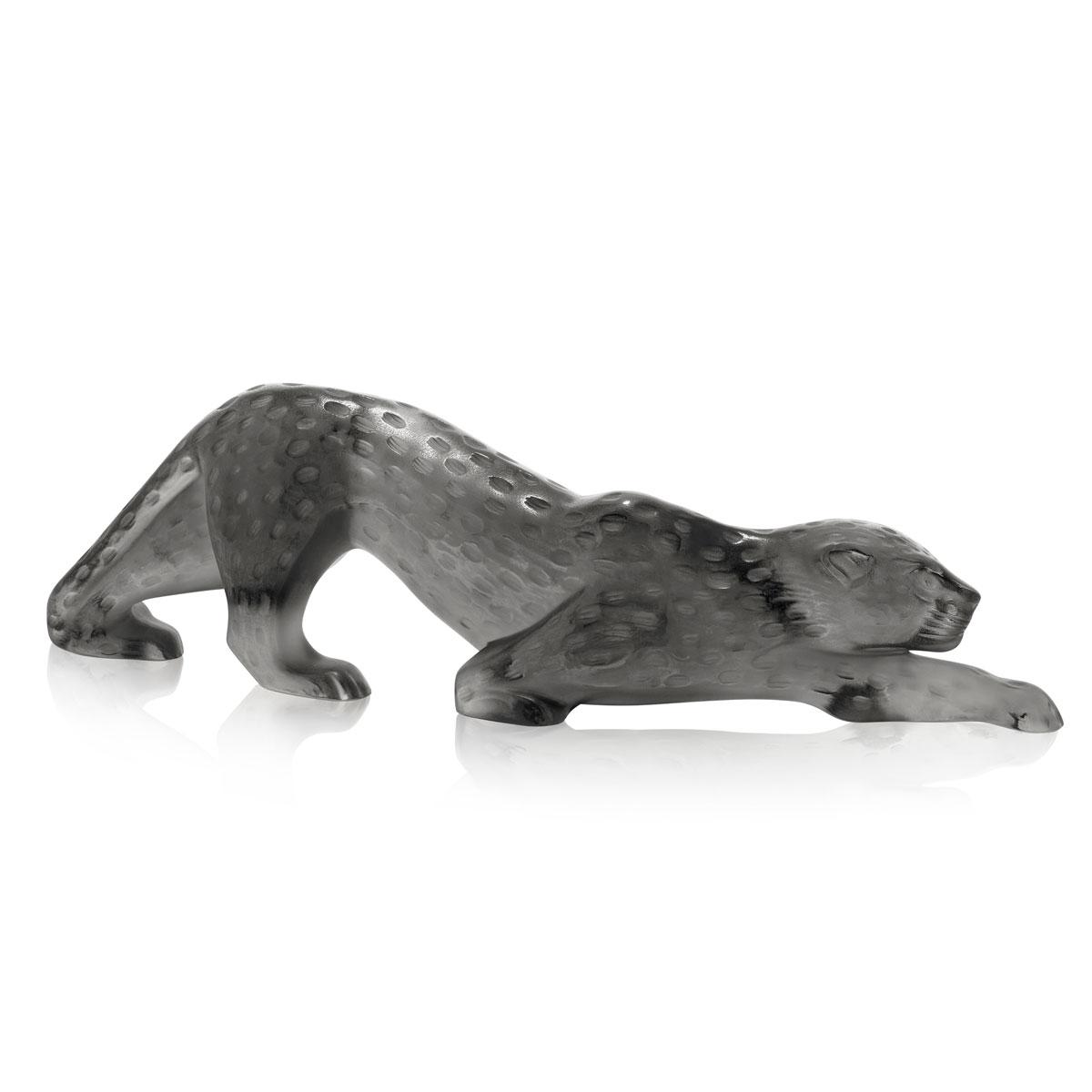 Lalique Crystal, Zeila Grey Panther Sculpture