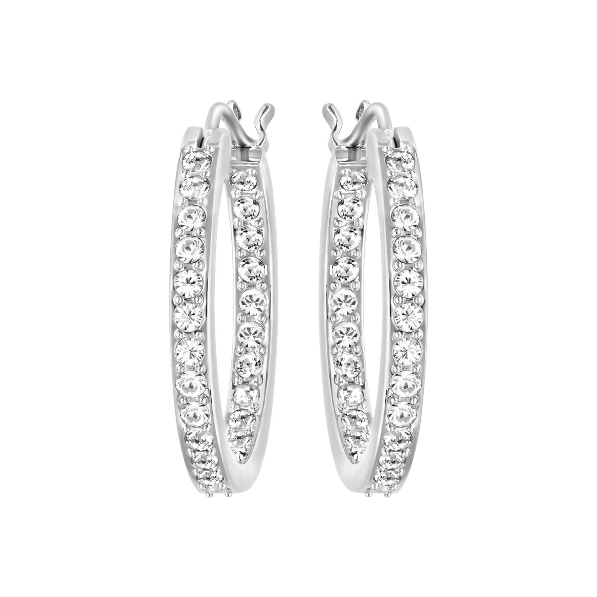 Swarovski Sommerset White and Rhodium Pierced Earrings