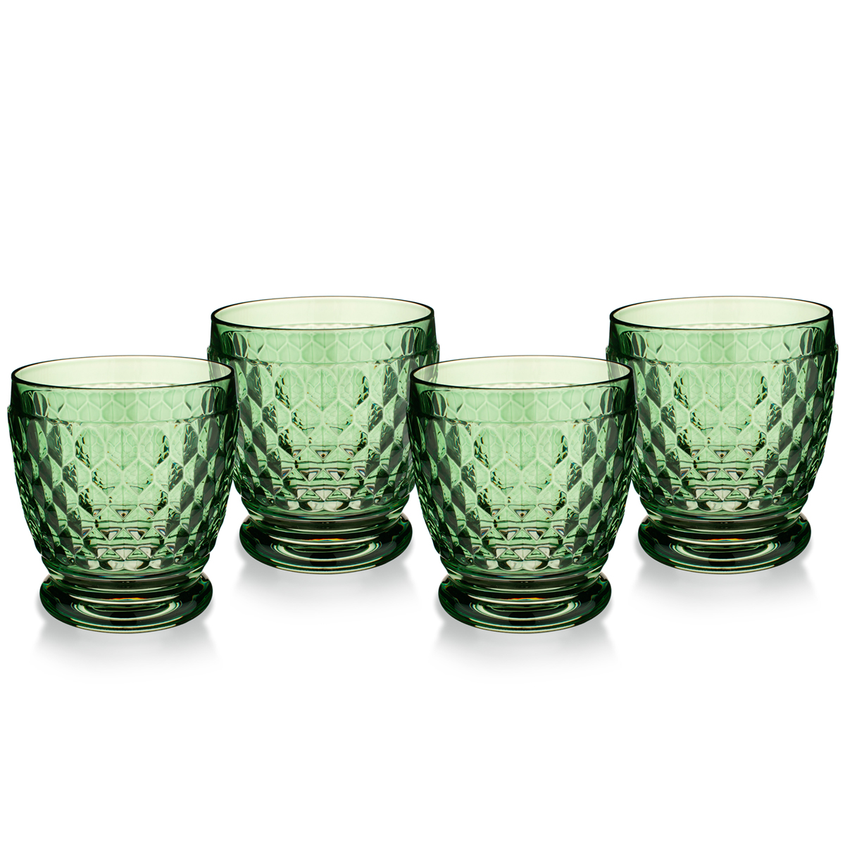 Villeroy and Boch Boston Colored Double Old Fashioned Green Set of 4