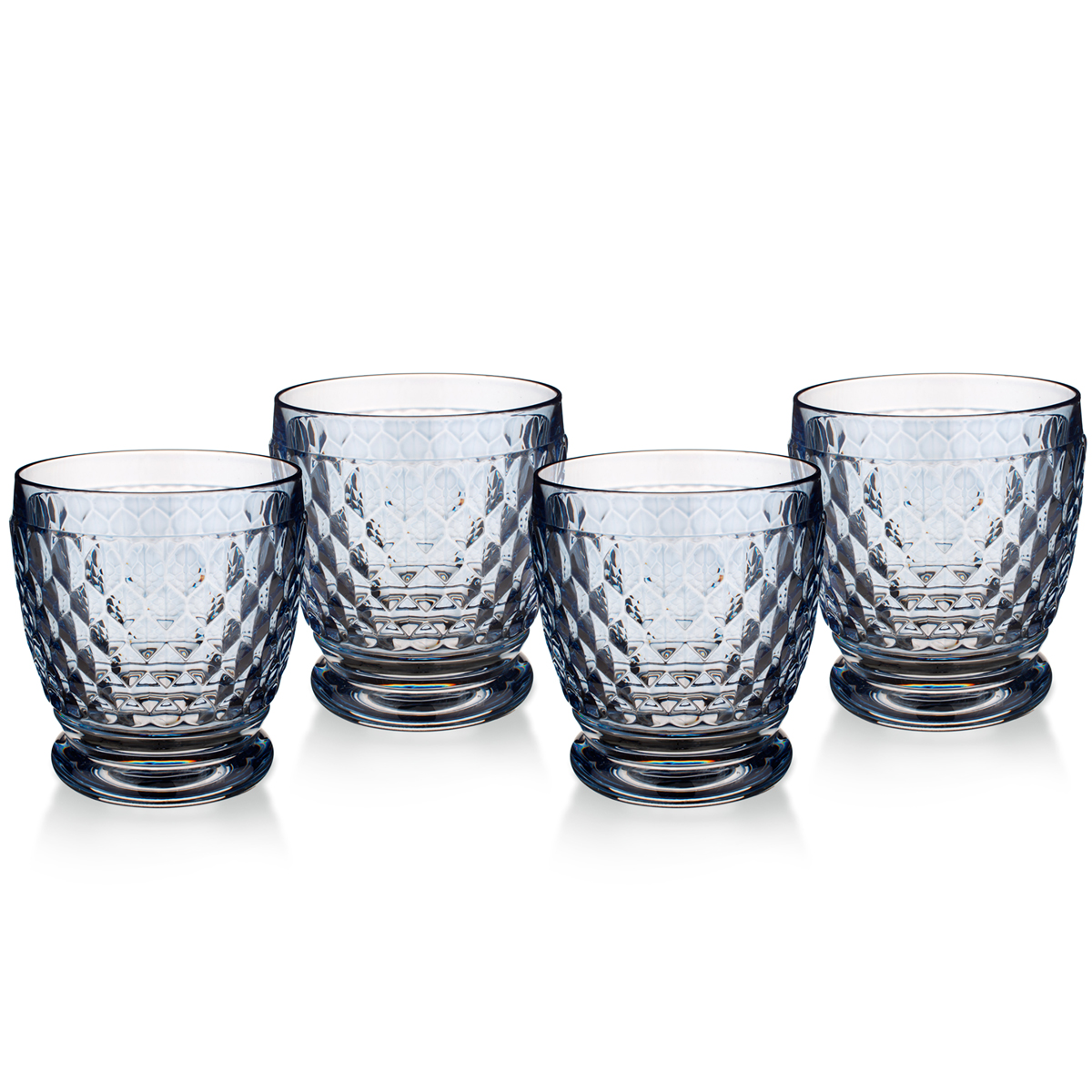 Villeroy and Boch Boston Colored Double Old Fashioned Blue Set of 4