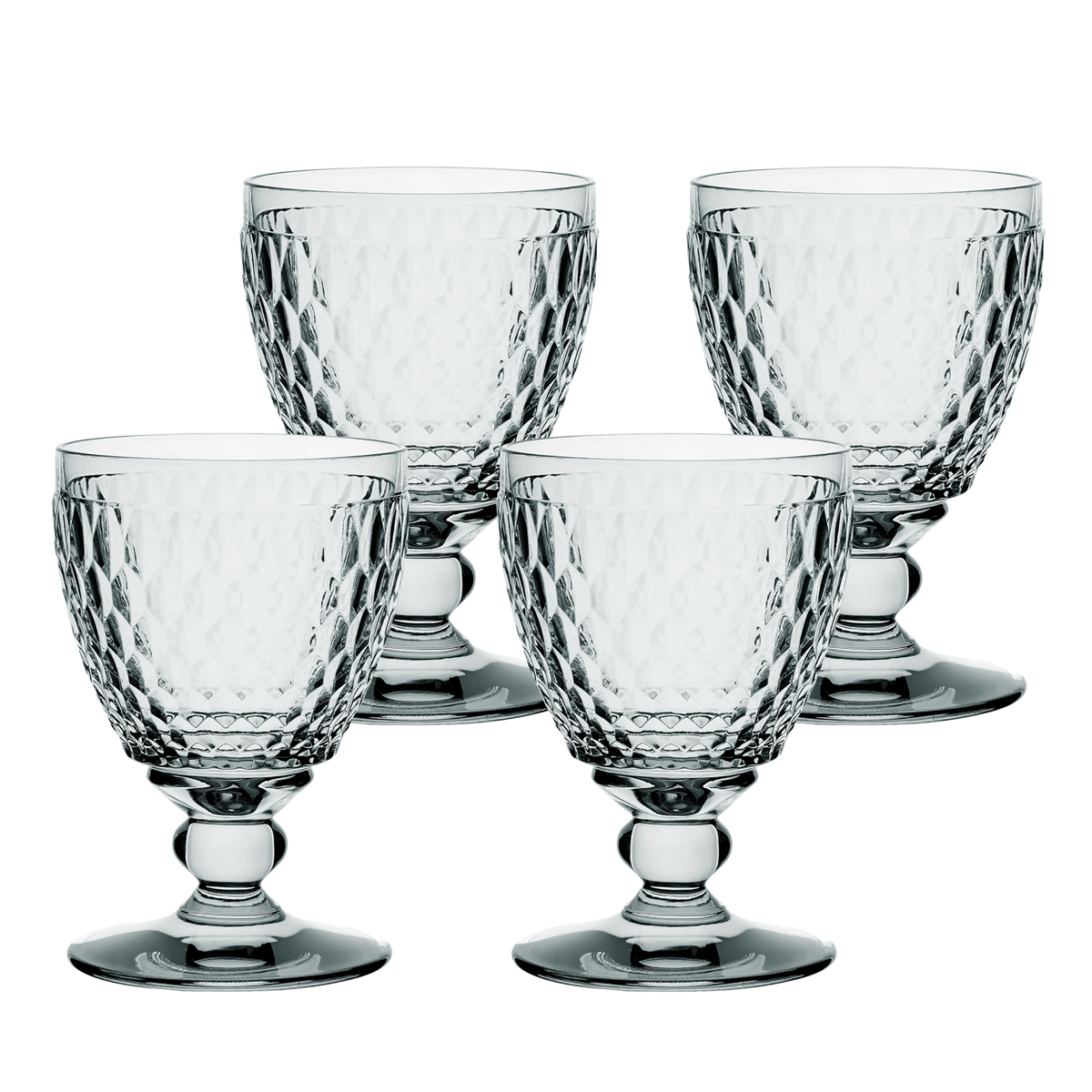 Villeroy and Boch Boston Colored Goblet Smoke Set of 4