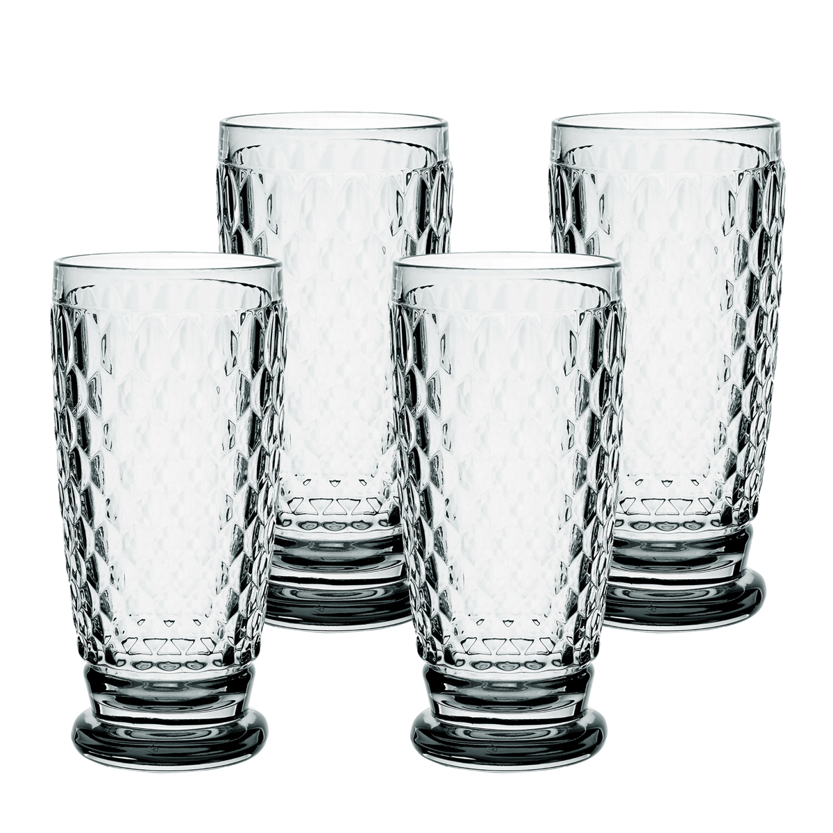 Villeroy and Boch Boston Colored Highball Smoke Set of 4