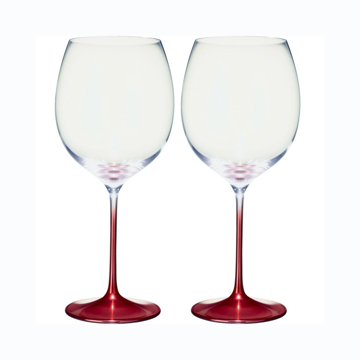 Villeroy and Boch Allegorie Premium Rose Burgundy Pair