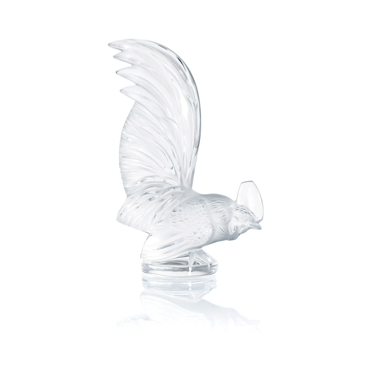 Lalique Crystal, Crystal Paperweight Zodiac Rooster
