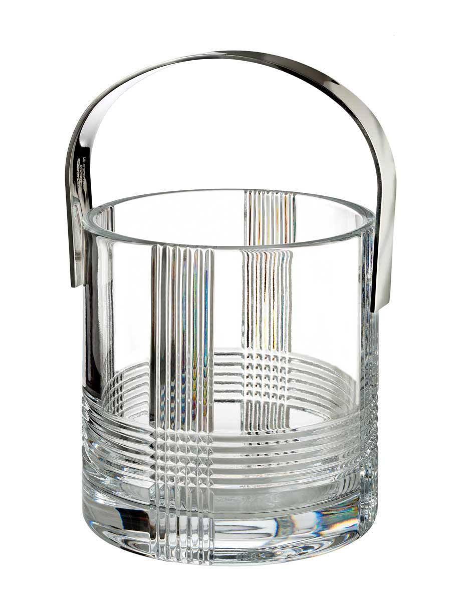 Rogaska Crystal, Fan Club Ice Bucket with Handles