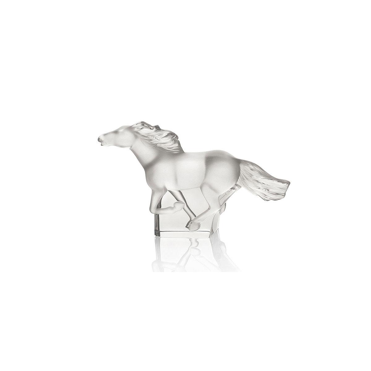 Lalique Crystal, Figure Kazak Horse Clear