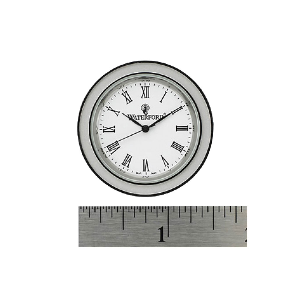 """Waterford Silver, Tone Crystal Clock Face Insert, Small 1 1/2"""""""