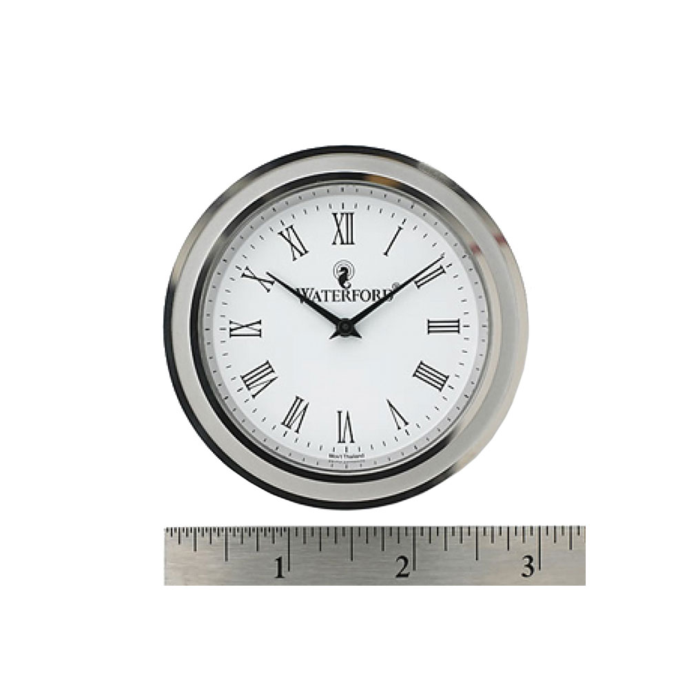 """Waterford Silver, Tone Crystal Clock Face Insert, Large 2 3/4"""""""