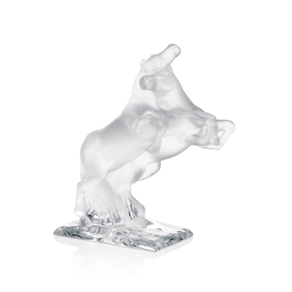 Lalique Two Wild Horses Sculpture, Limited Edition