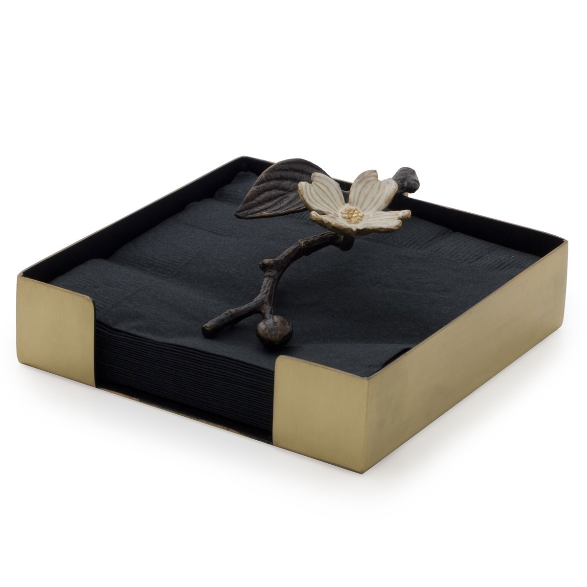 Michael Aram Dogwood Cocktail Napkin Box