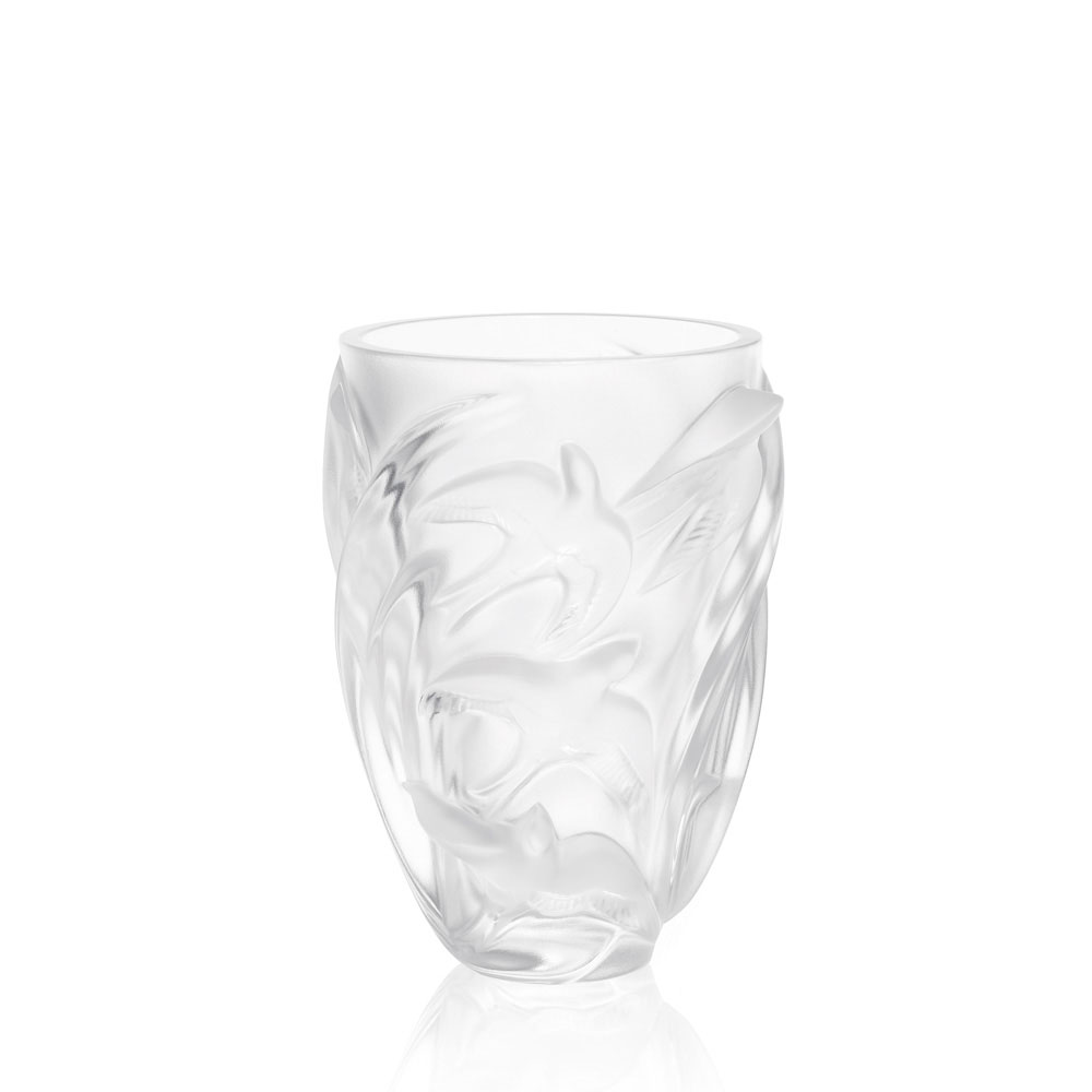 Lalique Crystal, Vase Martinets