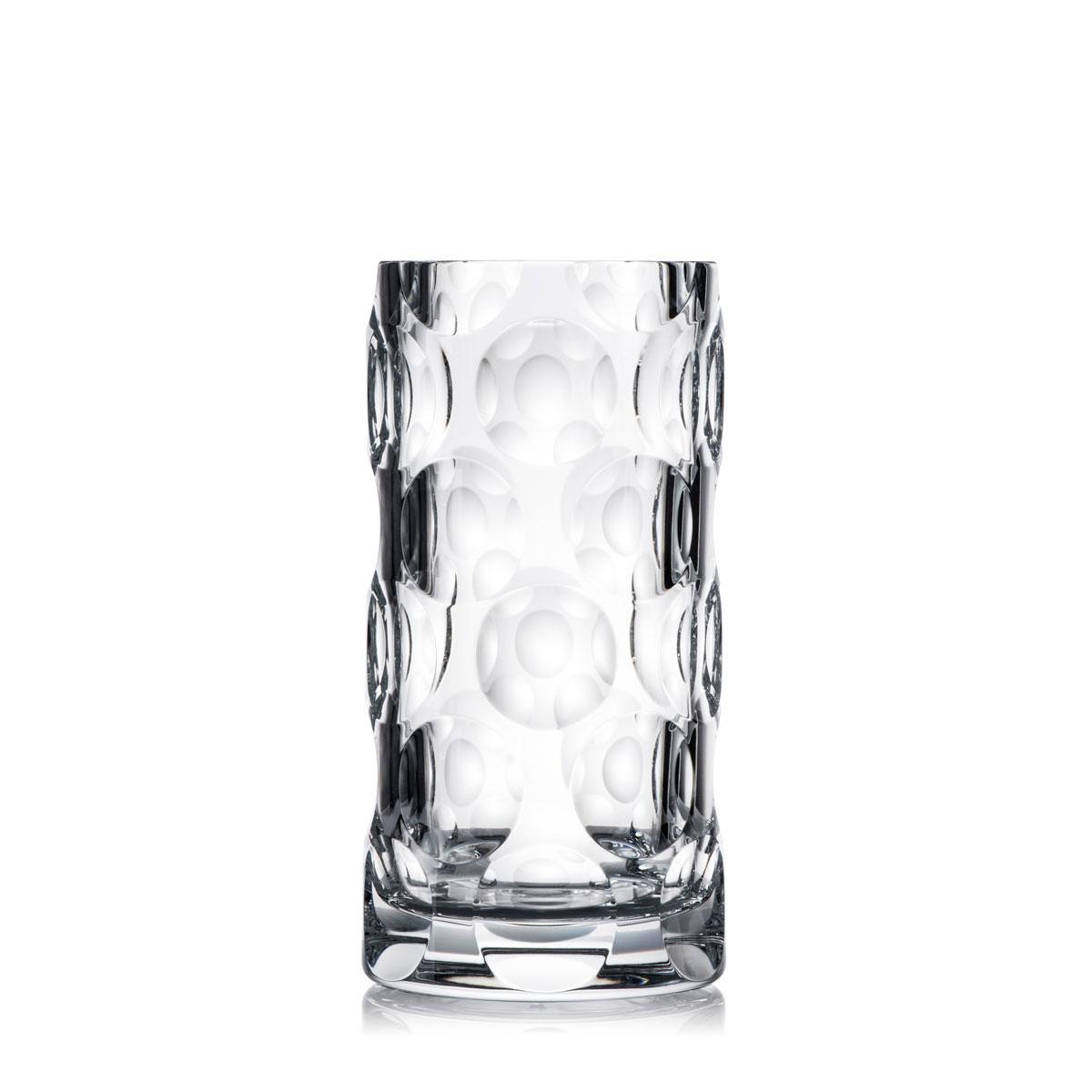 "Rogaska Crystal, Dots 13"" Crystal Vase"