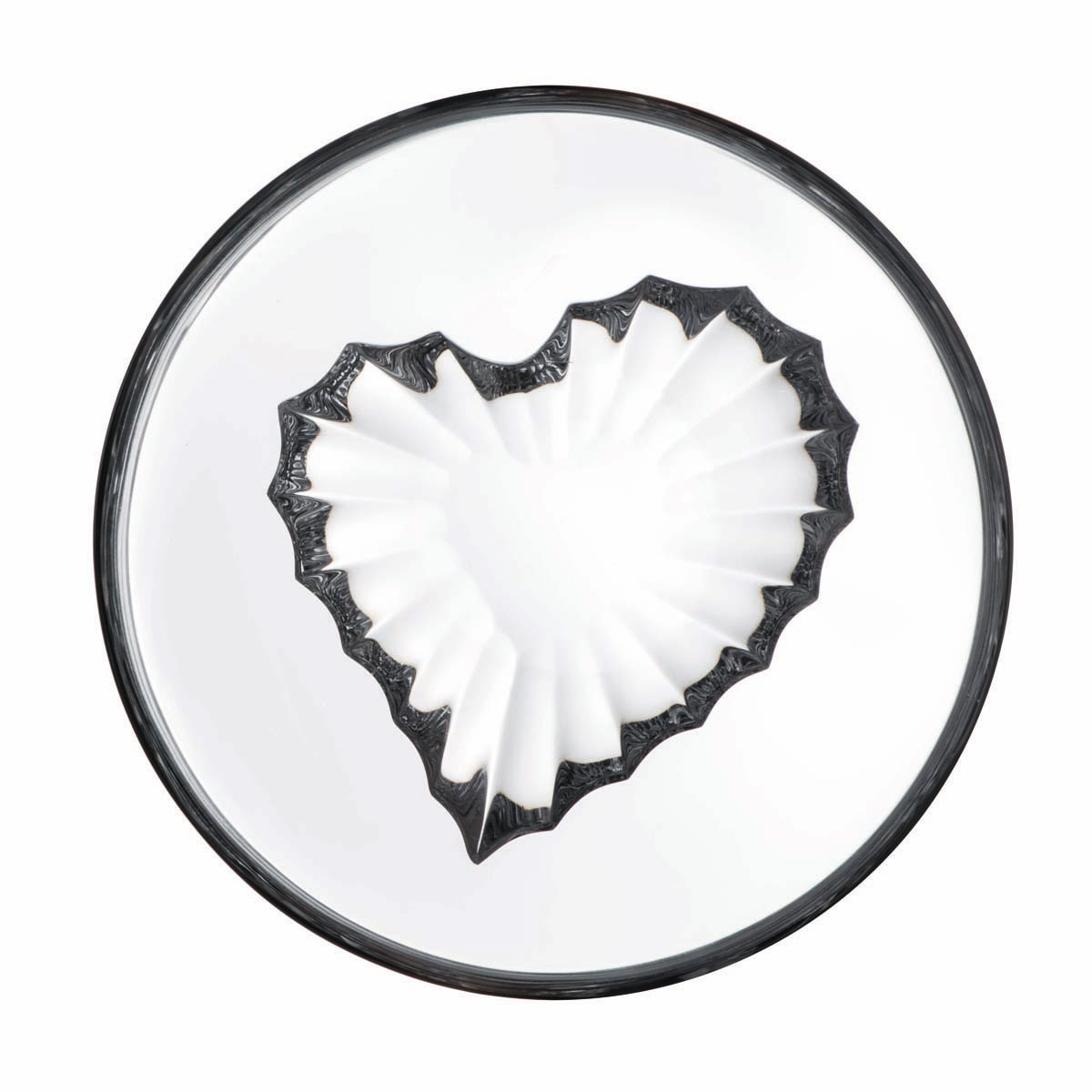 Rogaska Crystal, Live, Love, Sparkle Mini Crystal Bowl, Heart