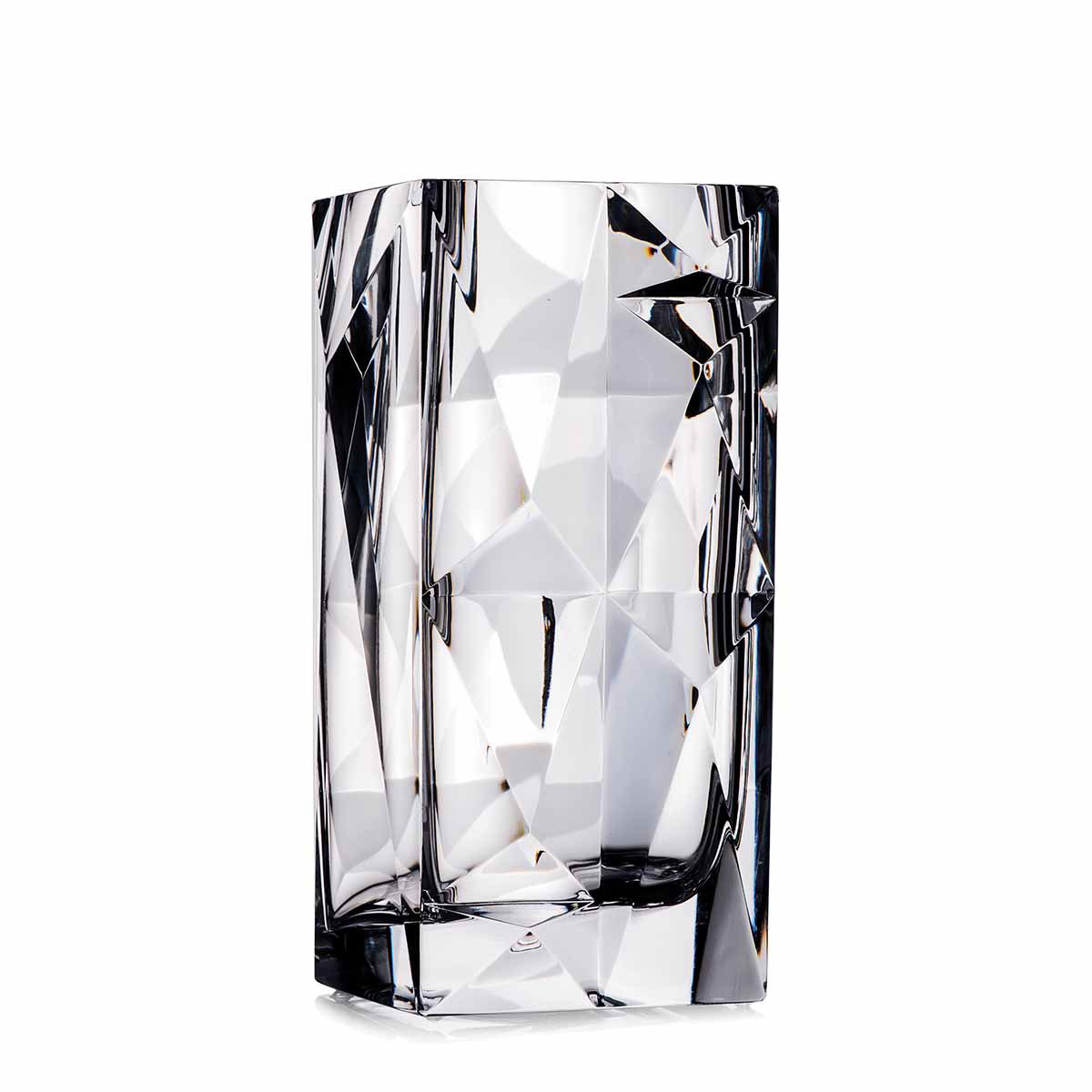 "Rogaska Crystallization 10"" Crystal Vase"