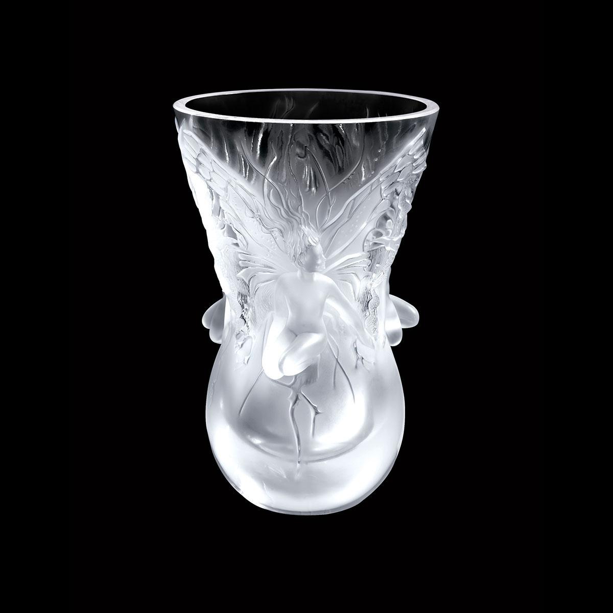 Lalique Crystal, Vase Fairy