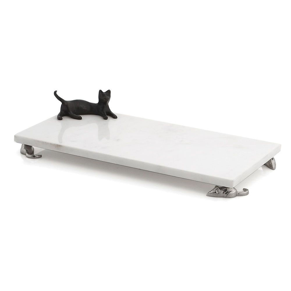 Michael Aram Cat and Mouse Cheese Board with Knife