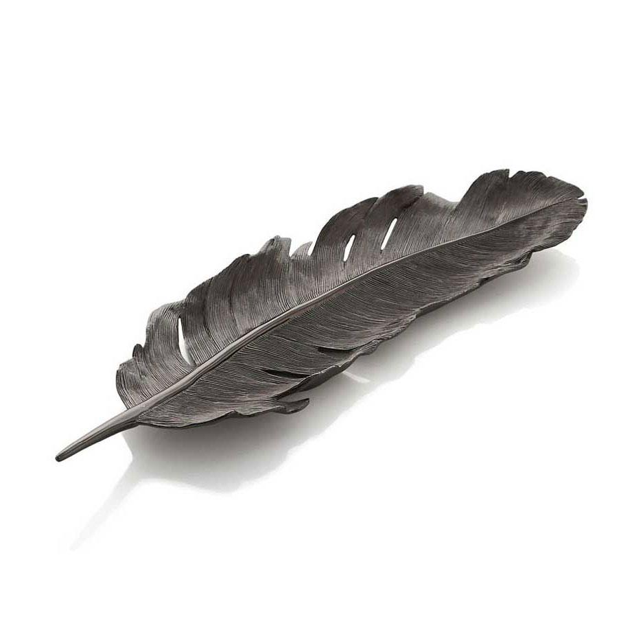 Michael Aram Flights of Fancy Black Feather Tray