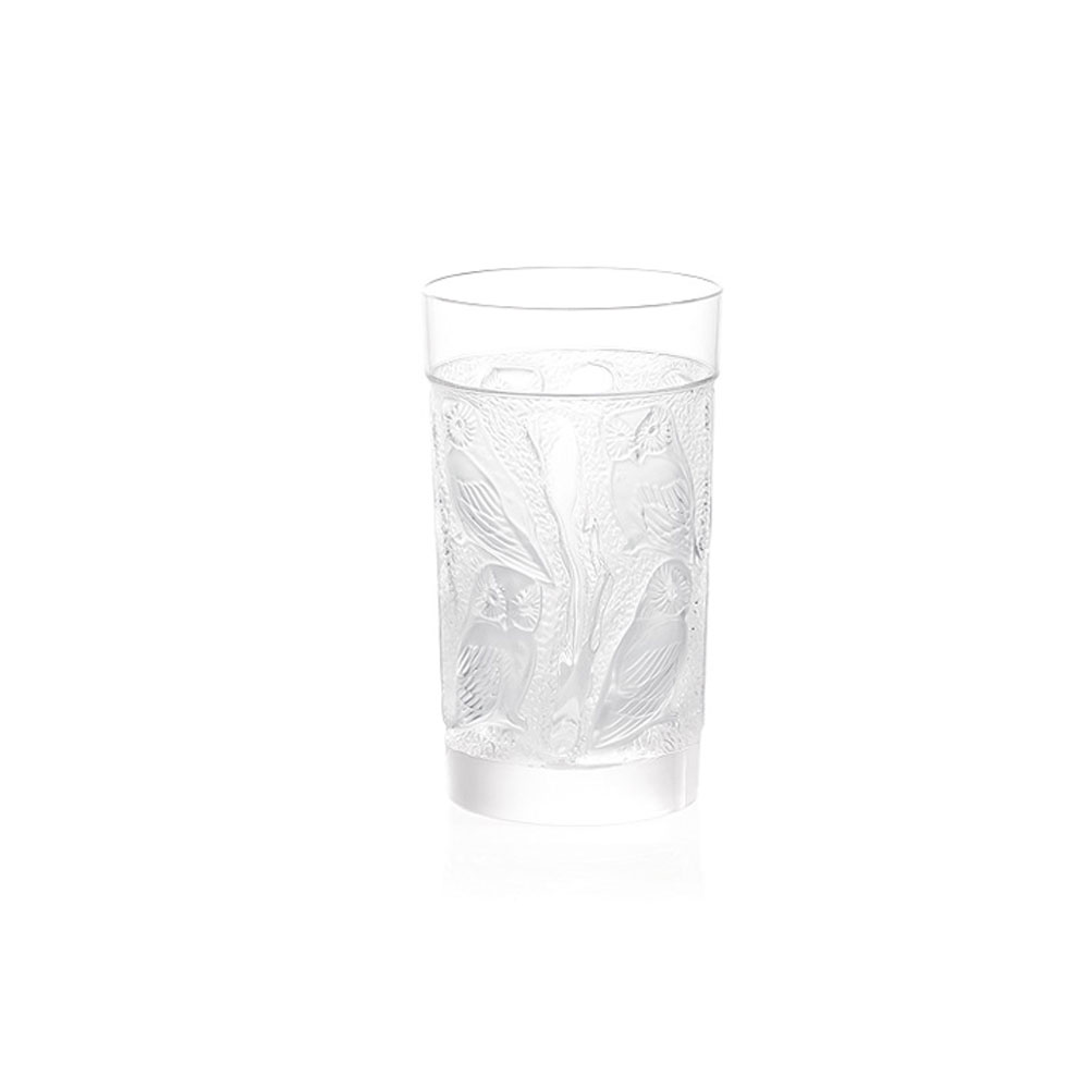 Lalique Crystal, Owl Crystal Hiball Tumbler, Single