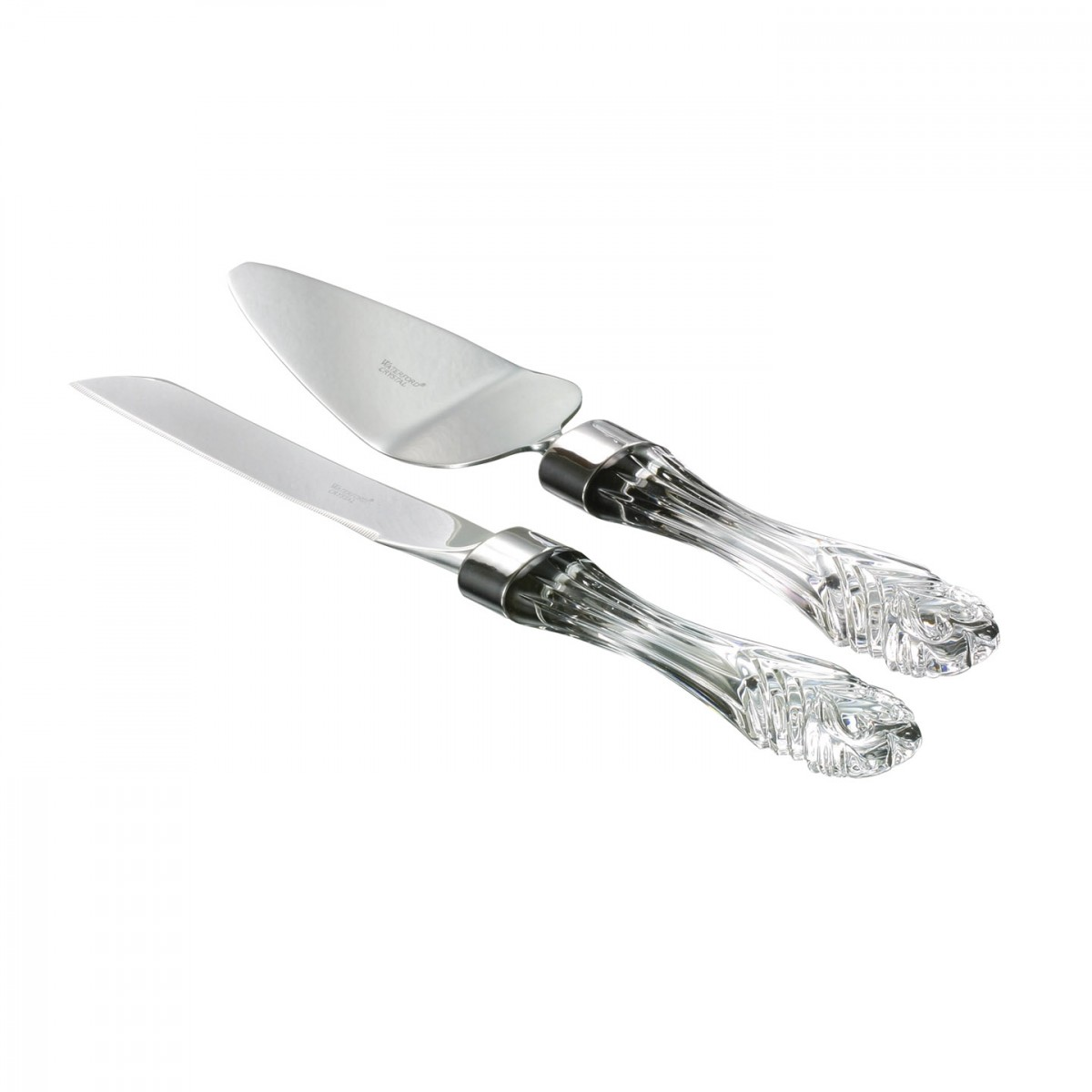 Waterford Wedding Cake Knife and Server, Crystal and Stainless Set