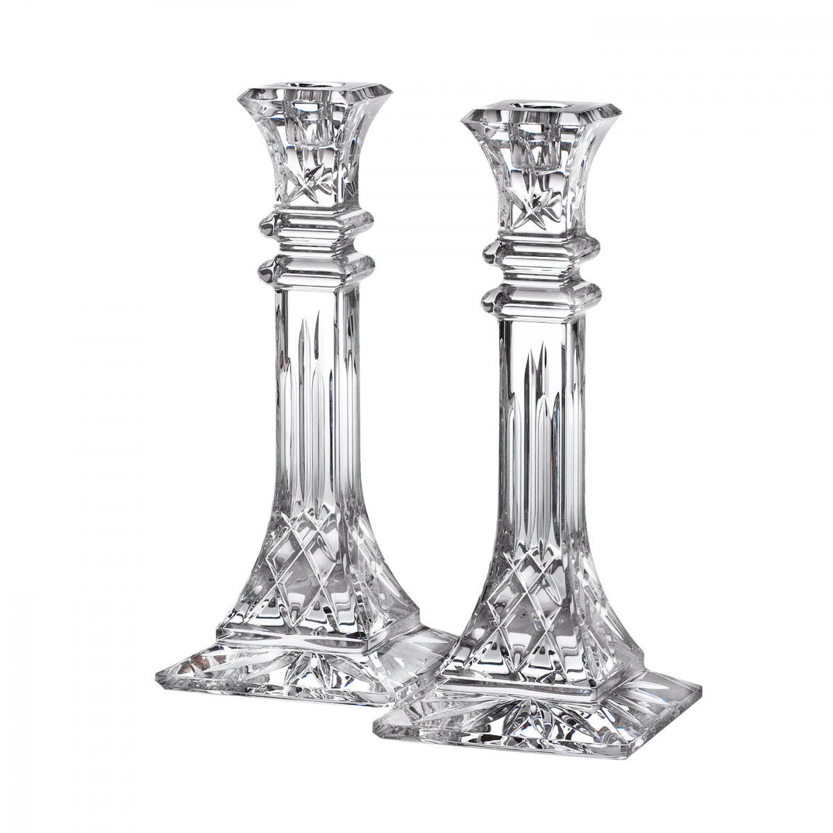 "Waterford Crystal, Lismore 10"" Candlestick, Pair"