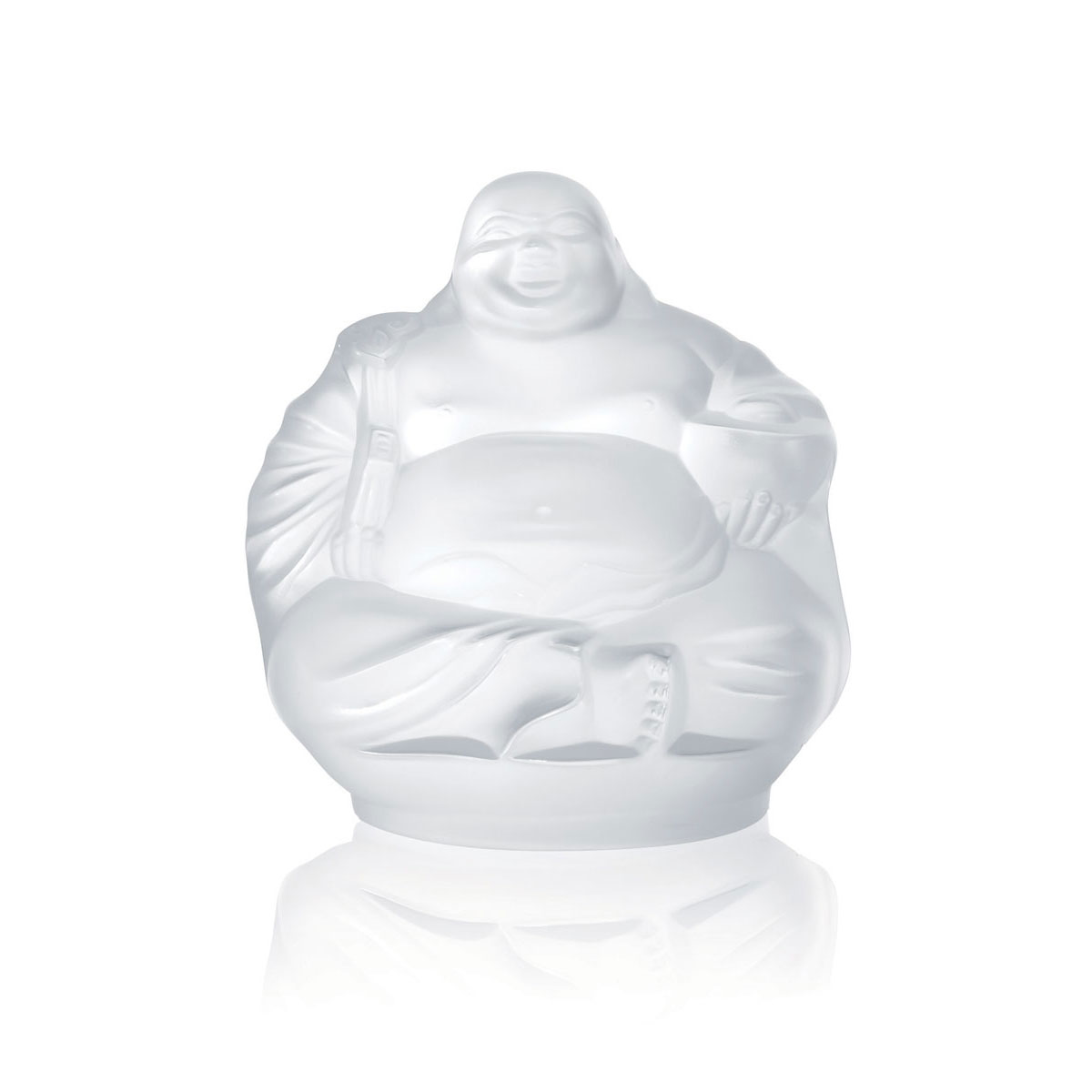Lalique Crystal, Figure Happy Buddha