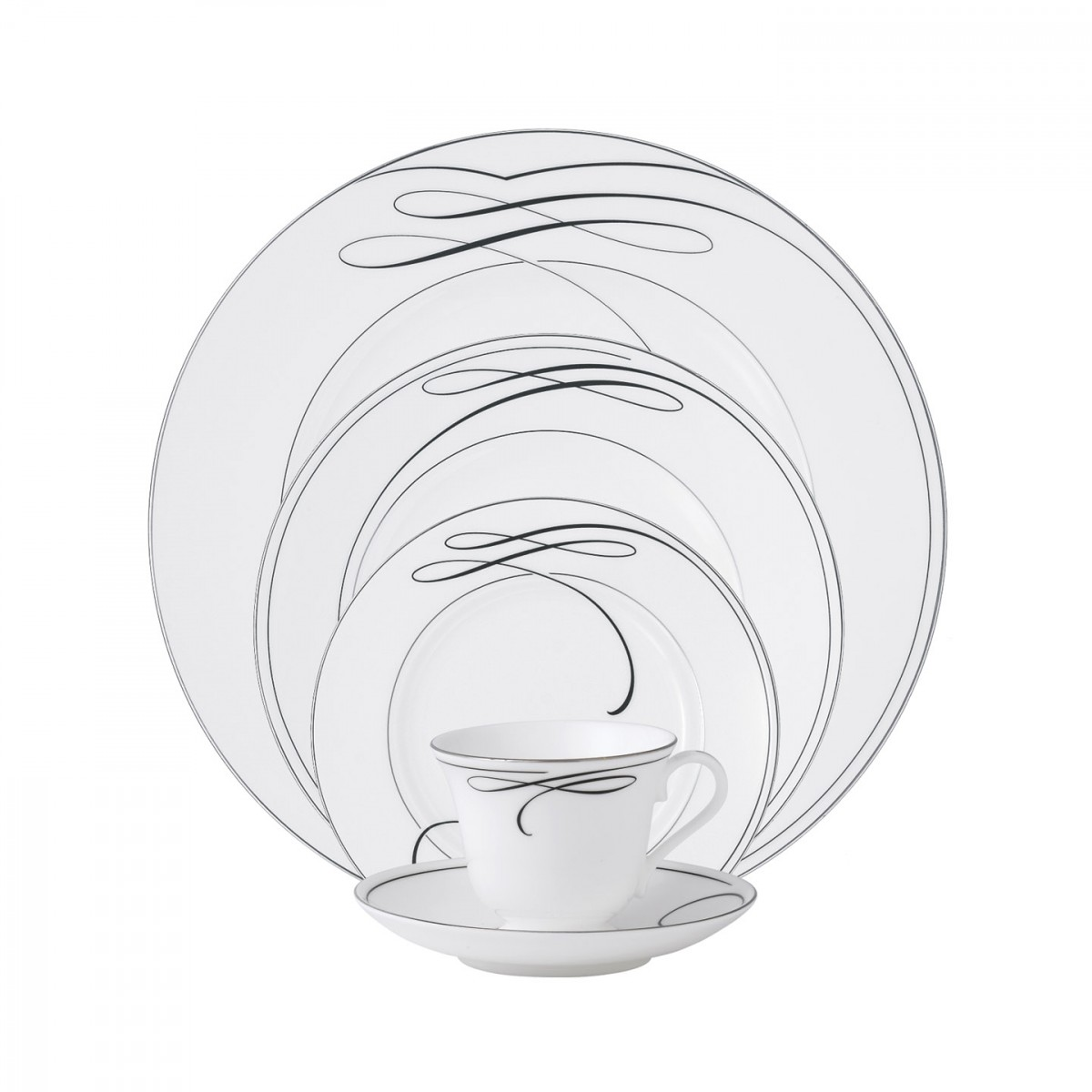 Waterford China Ballet Ribbon, 5 Piece Place Setting