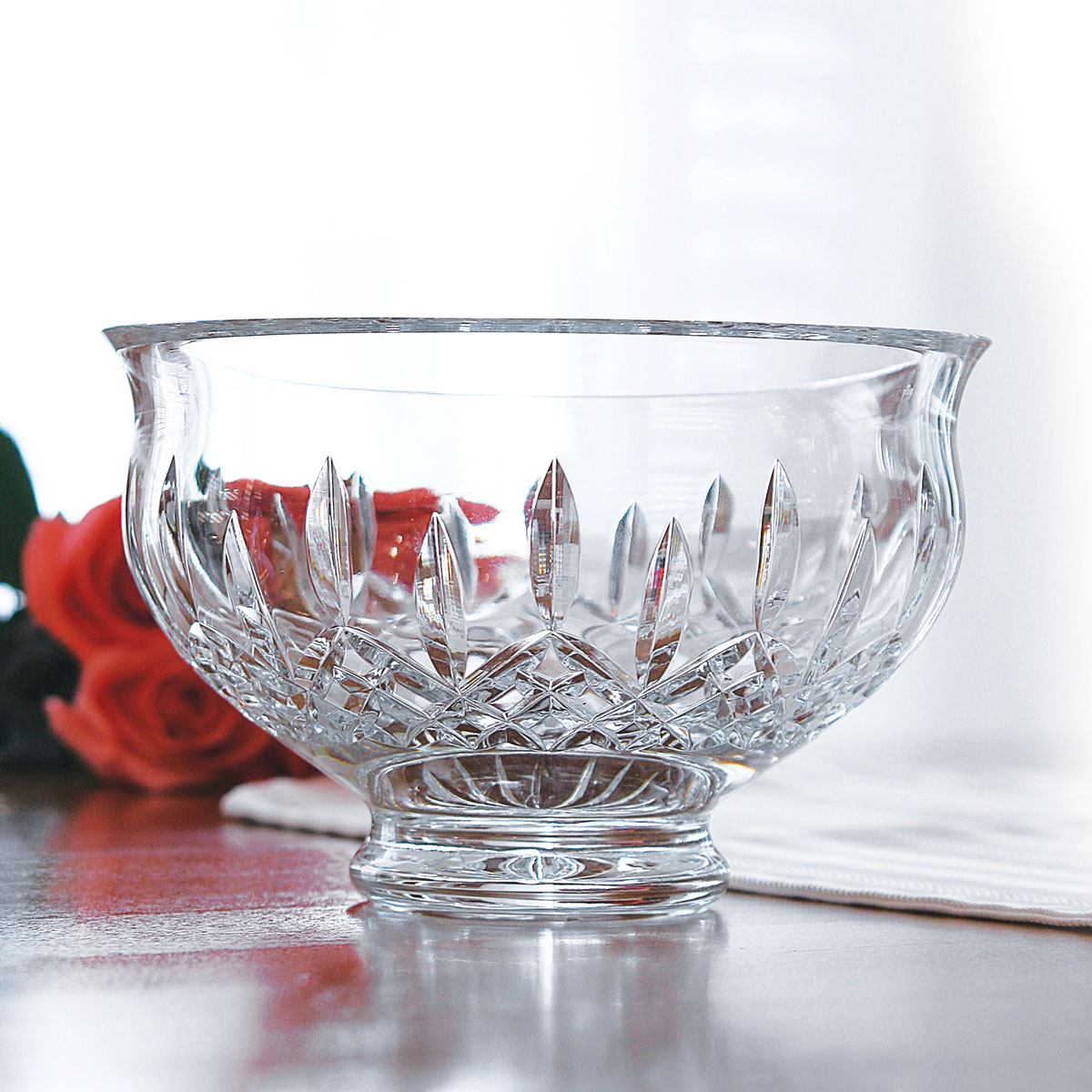 "Waterford Crystal, Lismore Footed 6"" Crystal Bowl"