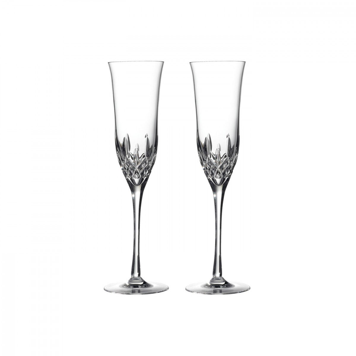 Waterford Crystal, Lismore Essence Champagne Flutes, Pair