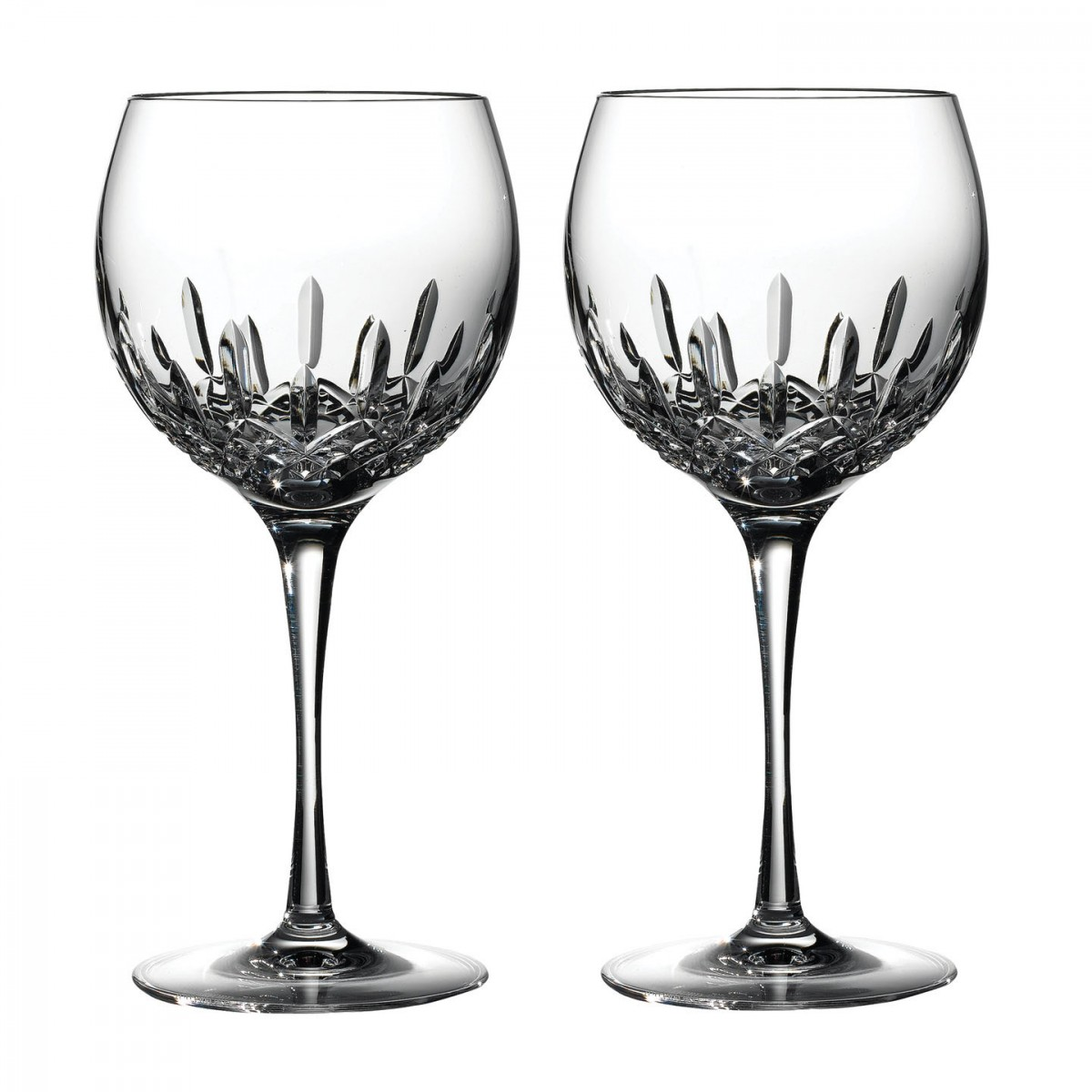 Waterford Crystal, Lismore Essence Balloon Wine, Pair