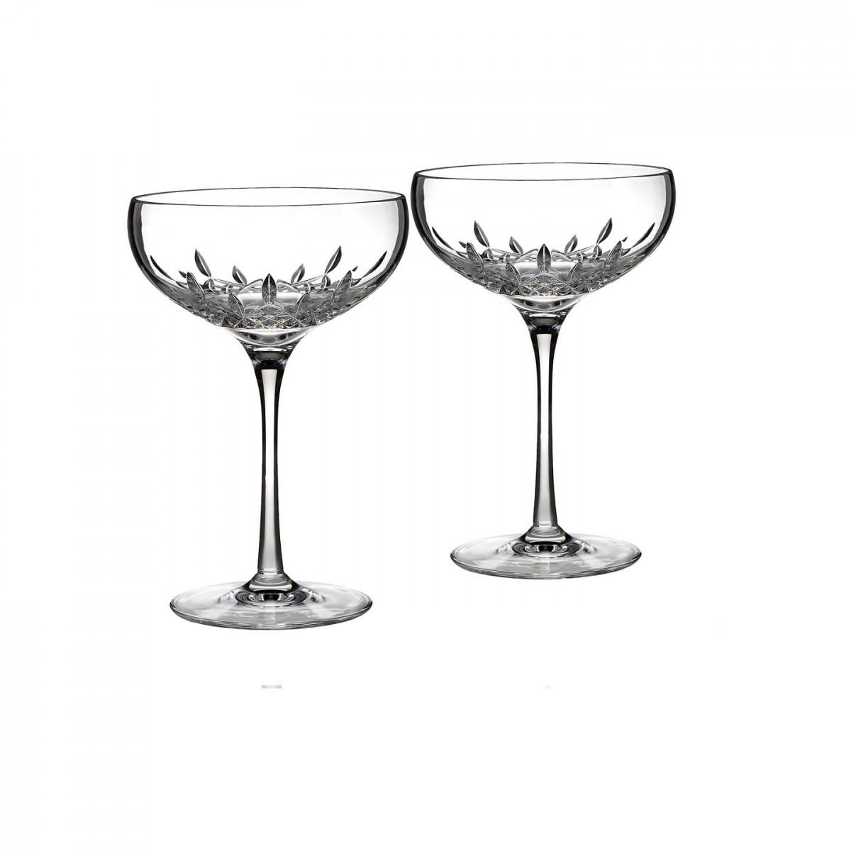 Waterford Crystal, Lismore Essence Saucer Champagne Coupe, Pair