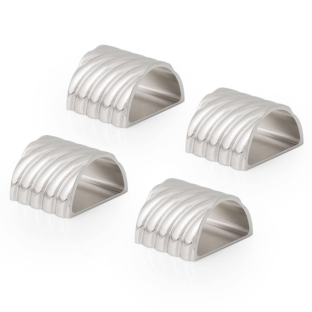 Michael Aram Twist Napkin Ring Set of 4 - Nickelplate