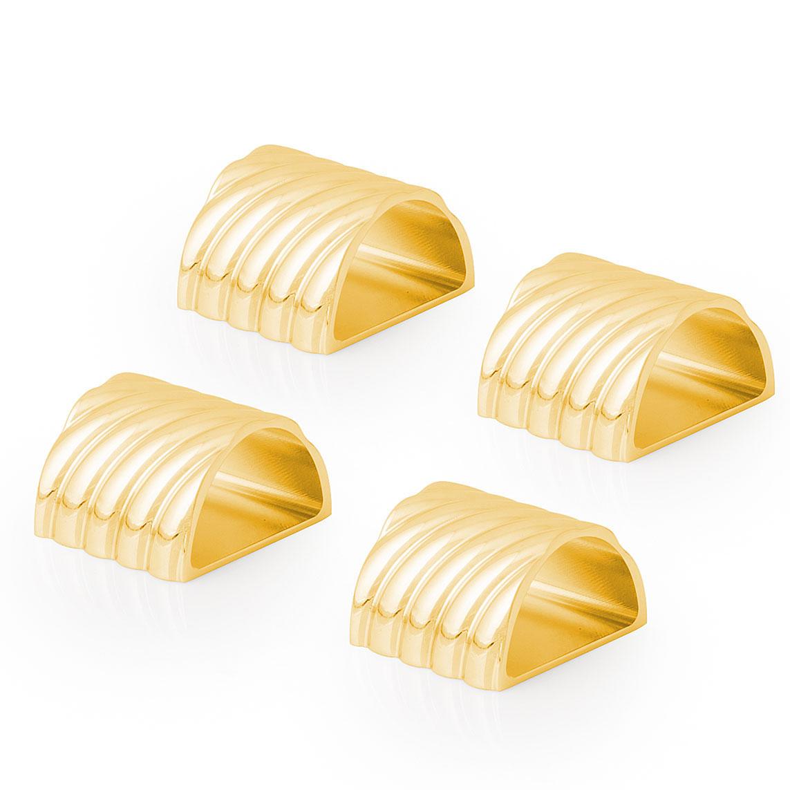 Michael Aram Twist Napkin Ring Set of 4 - Goldtone