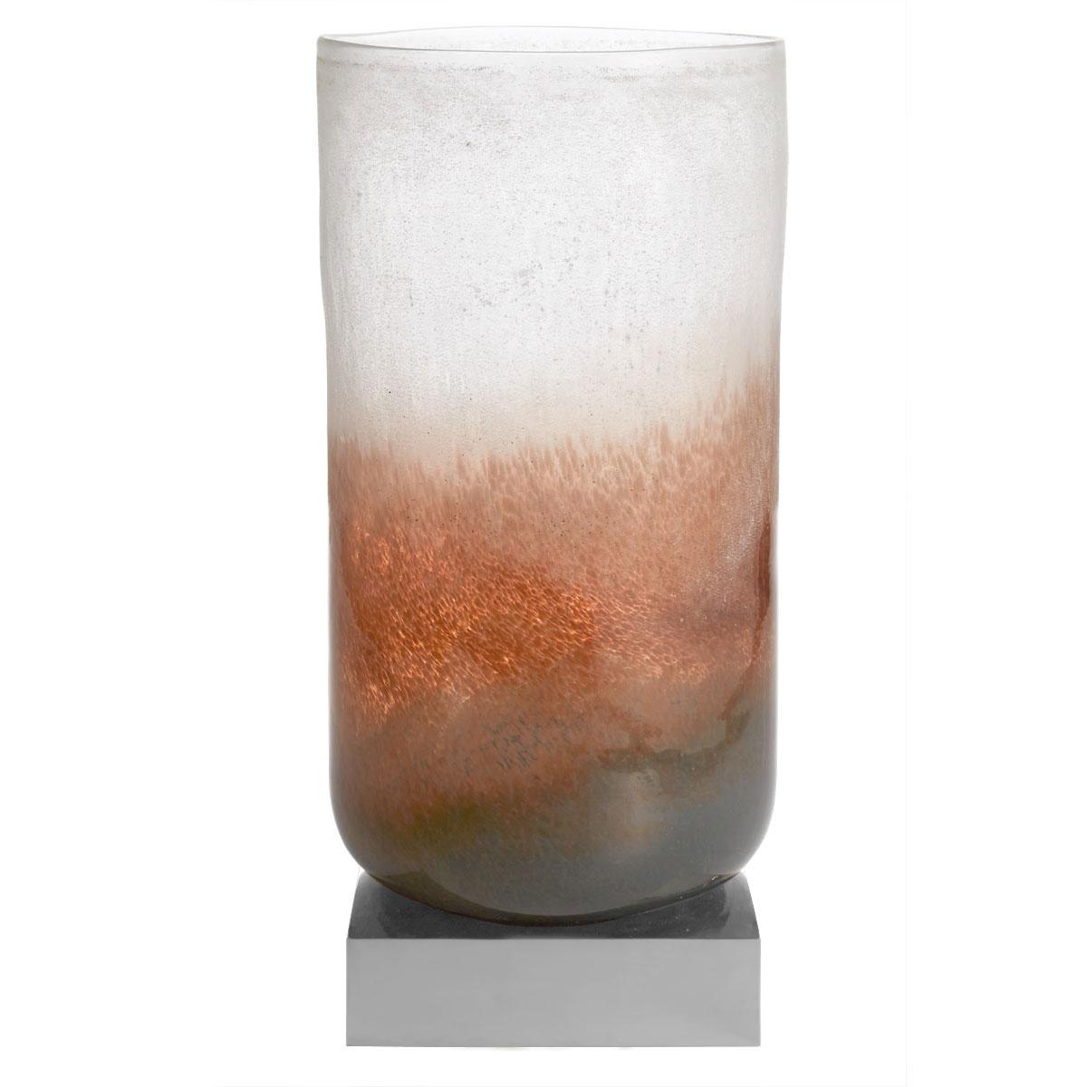 "Michael Aram Torched Glass 18"" Vase"