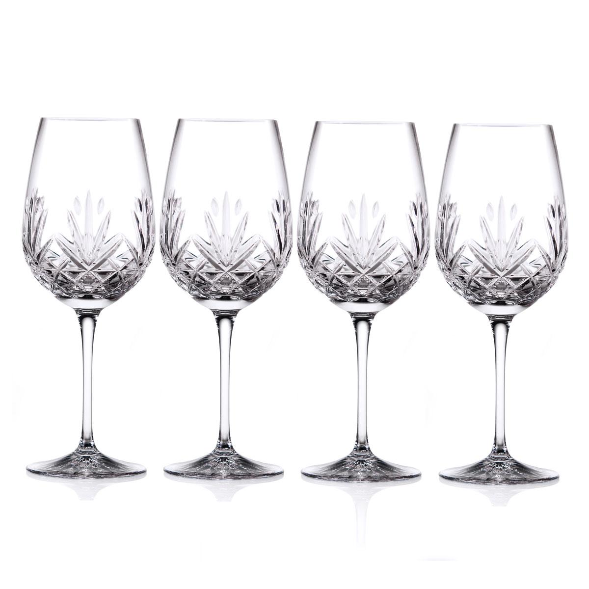Cashs Ireland, Annestown Cabernet, Merlot, Bordeaux Crystal Wine Glasses, Set of Four
