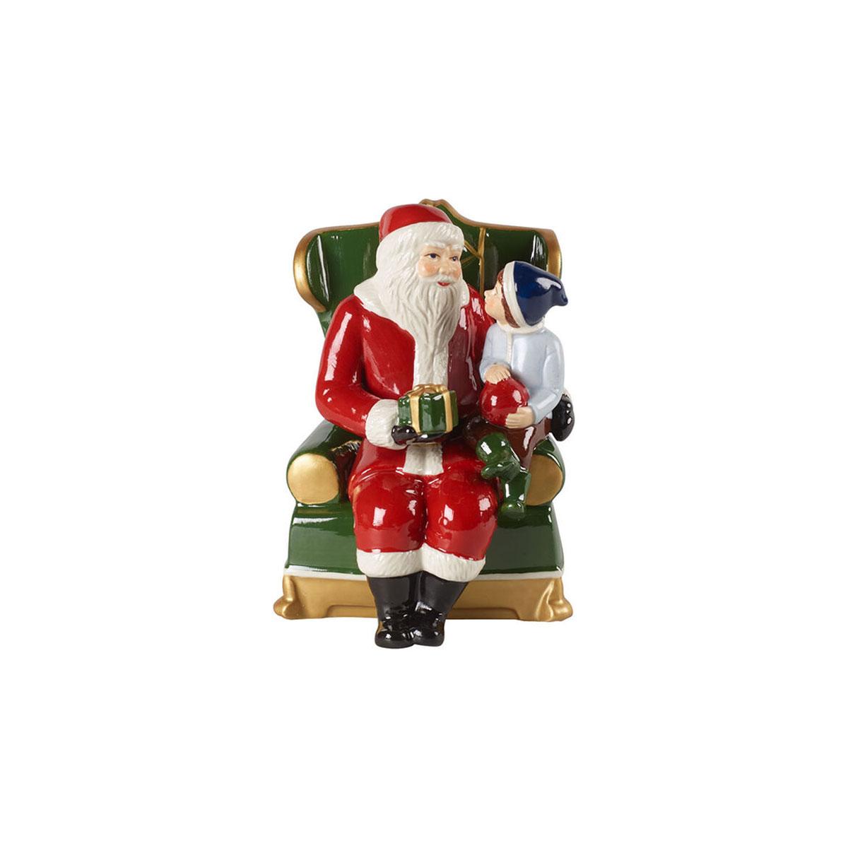 Villeroy and Boch Christmas Toys Santa on Armchair, Musical