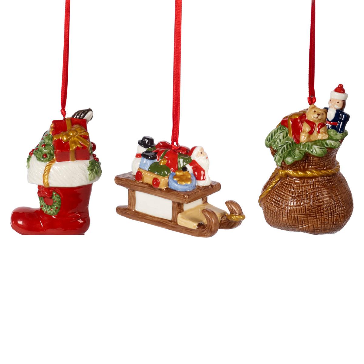 Villeroy and Boch 2021 Nostalgic Ornaments Set of Three