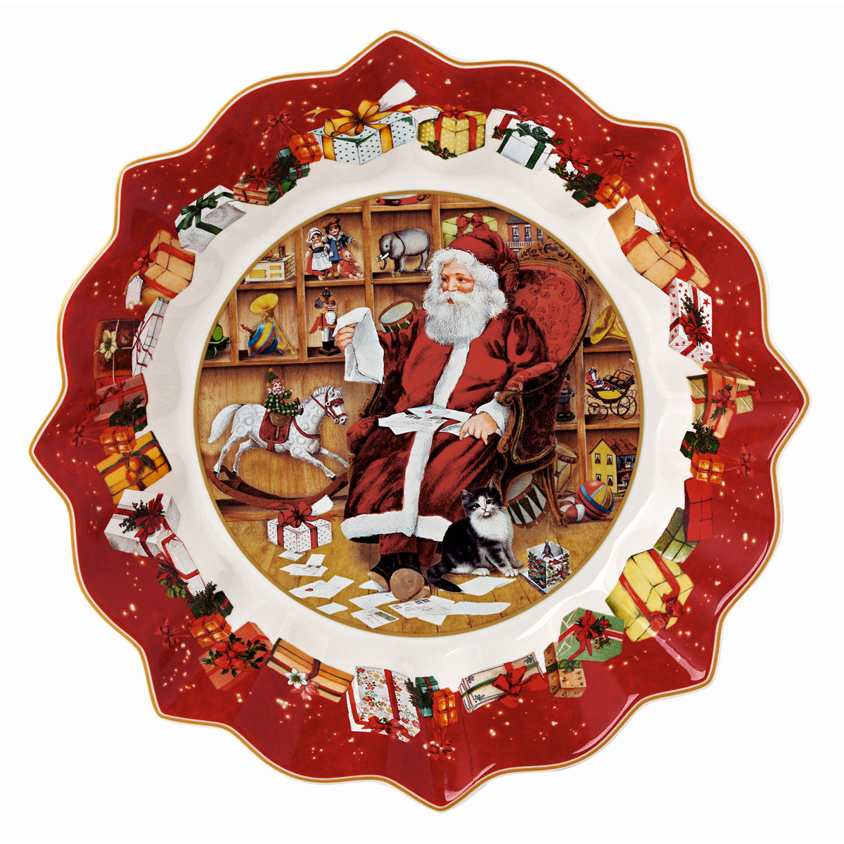 Villeroy and Boch Toys Fantasy Bowl, Santa Reads Wish Lists