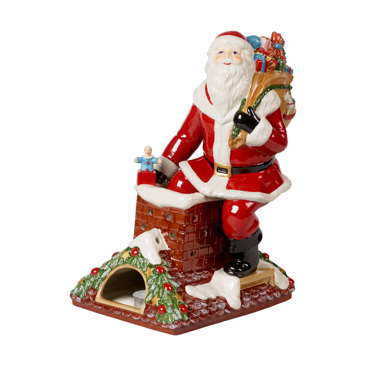 """Villeroy and Boch Christmas Toys Musical Figurine """"Santa Claus is Coming to Town"""""""