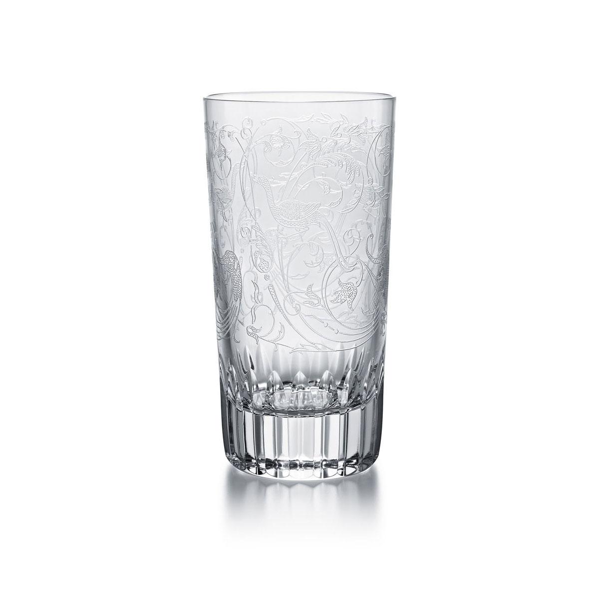 Baccarat Crystal Parme Highball Glass, Single