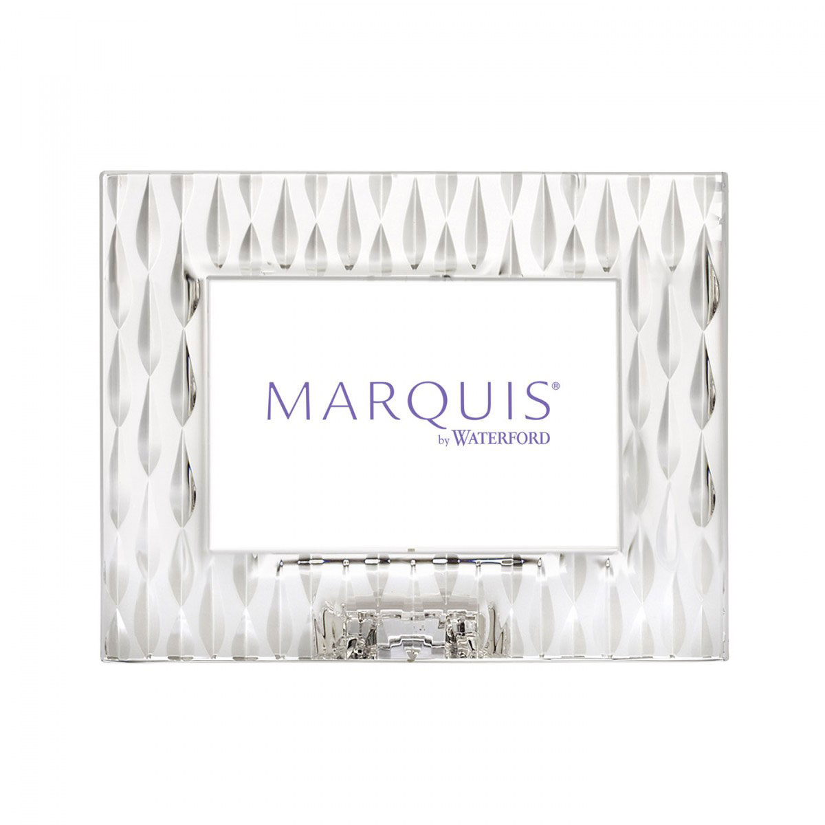 """Marquis by Waterford Crystal, Rainfall 4x6"""" Picture Frame, Landscape"""