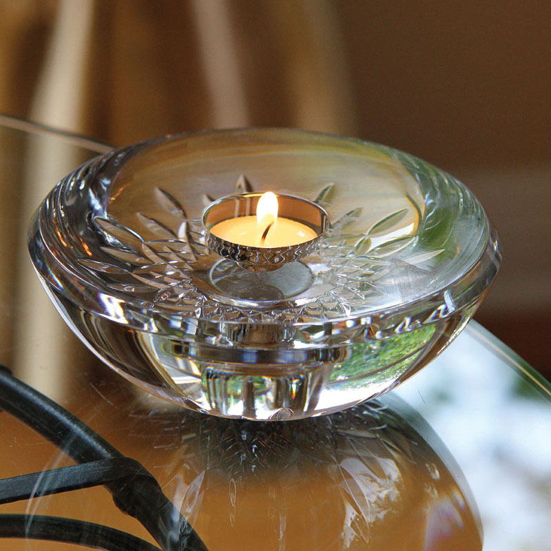 Waterford Crystal, Lismore Essence Crystal Votive With Candle