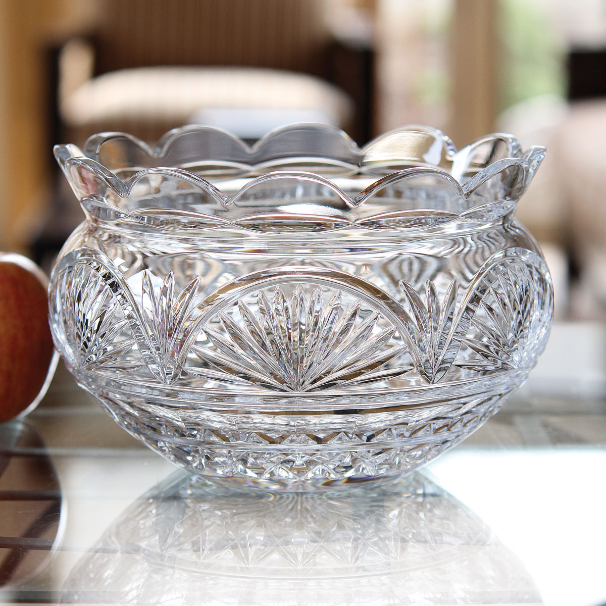 """Waterford Crystal, Fanlight Anniversary 8"""" Crystal Bowl, Limited Edition"""