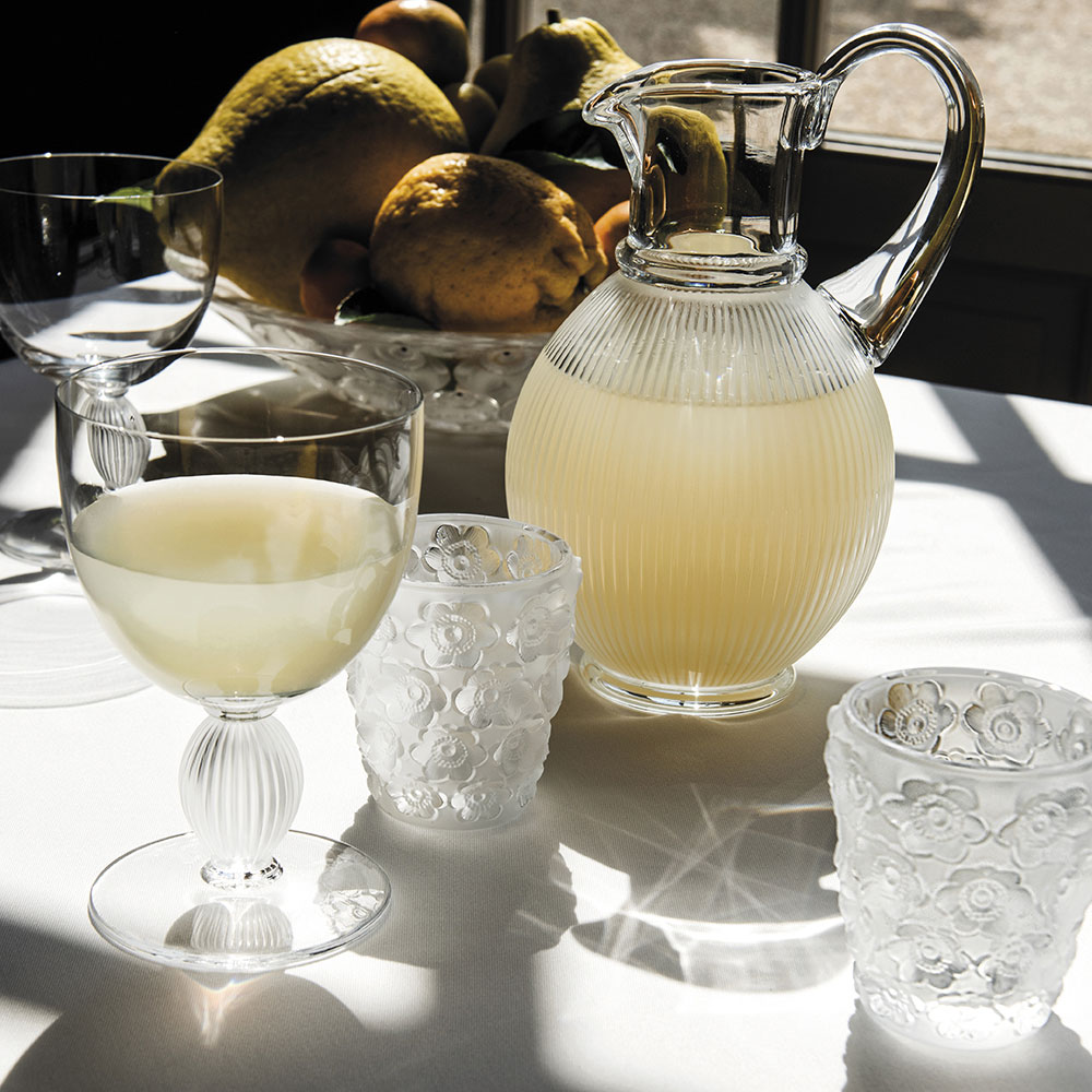 Lalique Crystal, Langeais Crystal Pitcher