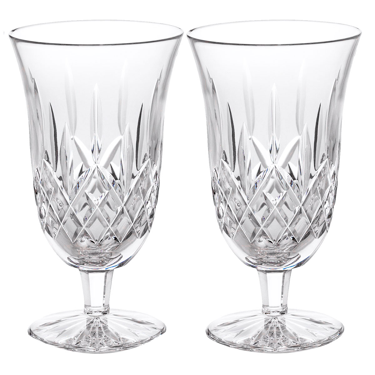 Waterford Crystal, Lismore Footed Crystal Iced Beverage Glass, Pair