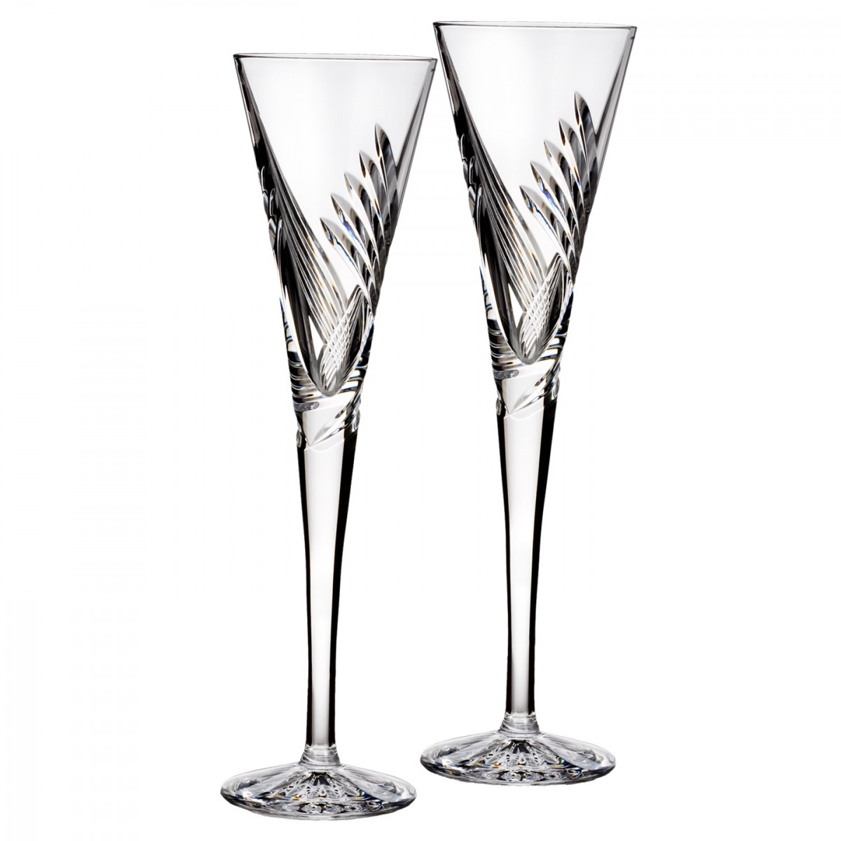 Waterford Crystal, Wishes Beginnings Crystal Flutes, Pair
