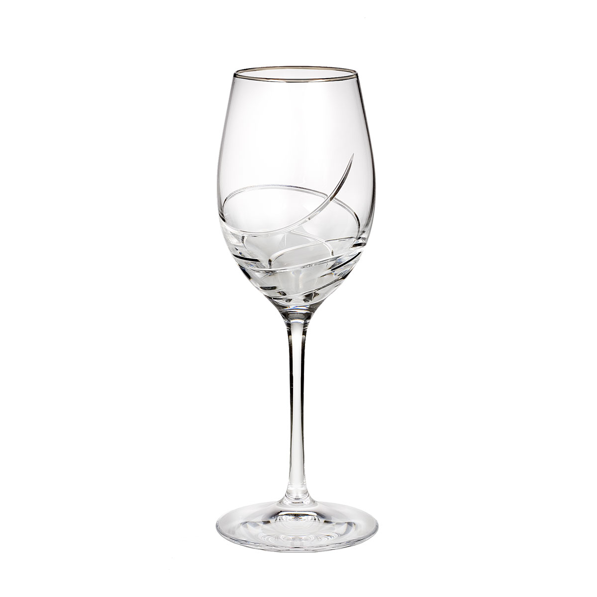 Waterford Crystal, Ballet Ribbon Essence Platinum Crystal Wine, Single
