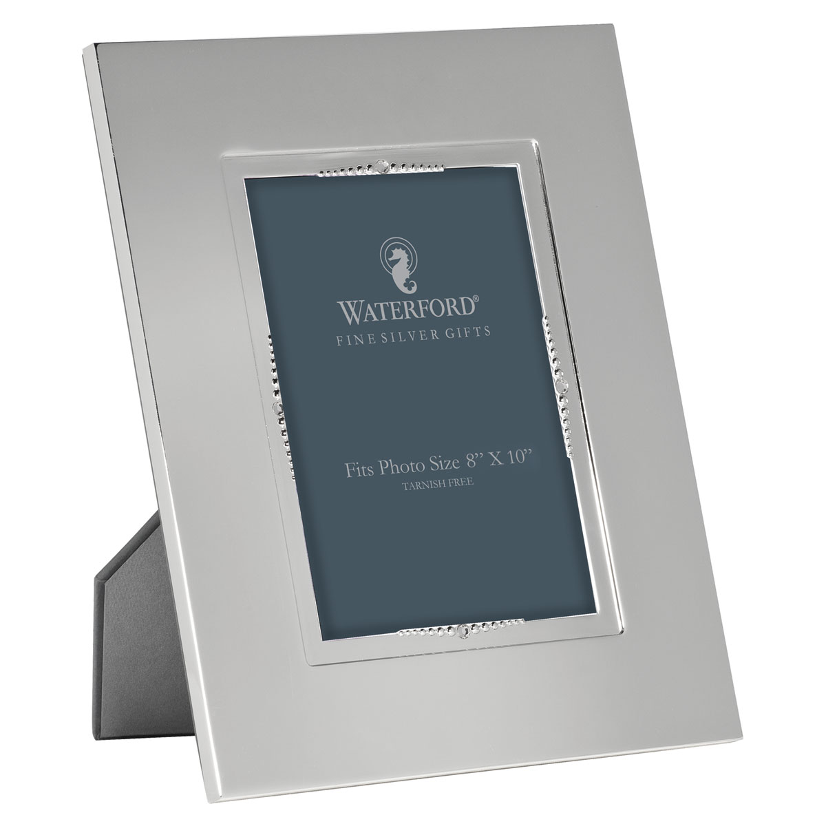 """Waterford Sterling Silver, Lismore Bead 5x7"""" Picture Frame"""